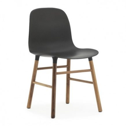 zwarte normann copenhagen form chair stoel