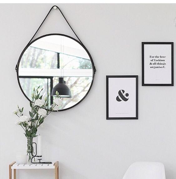 zwarte-ronde-spiegel-leren-band