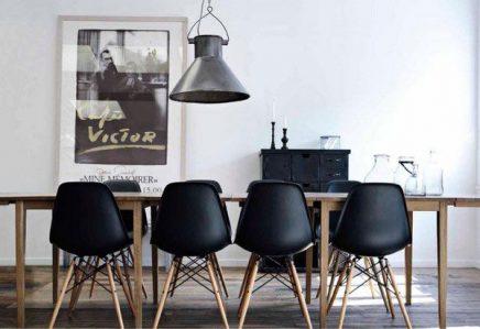 Zwarte stoelen inspiratie