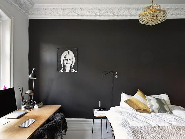 Vintage Slaapkamer Te Koop : Black Bedroom Wall Color