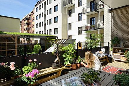 Zweedse terras balkon inrichting - Inrichting van het terras ...